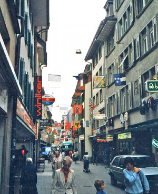 The streets of Lucerne