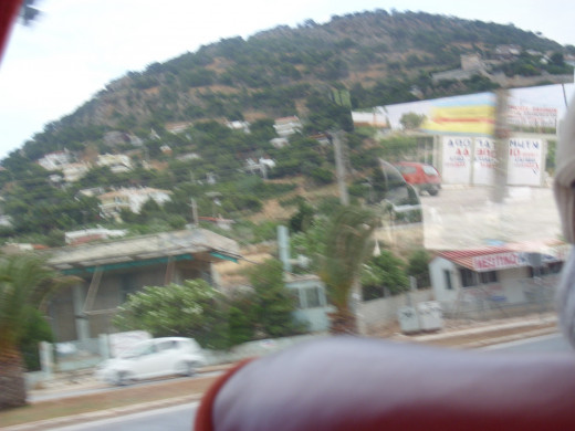 The Greek hillside