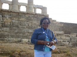 That's me in front of the temple of Poseidon