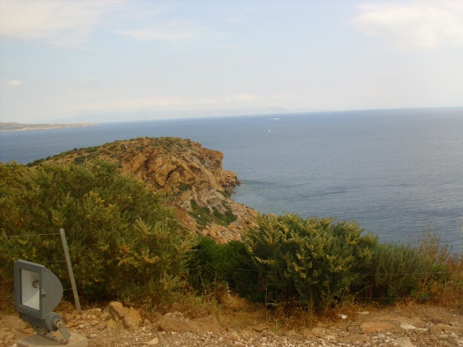 View of the Aegean Sea from Sounion.