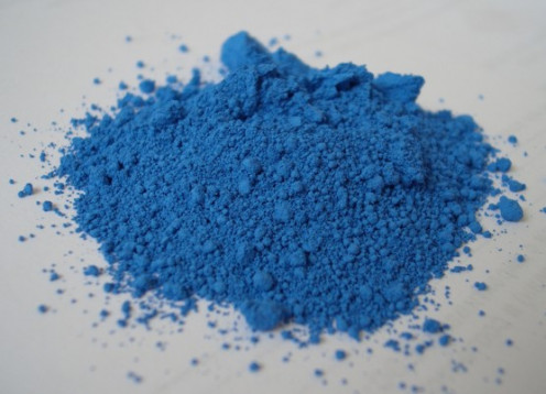 Blue pigment. According to a survey conducted by 3 global marketing firms, blue is the most popular colour in the world.