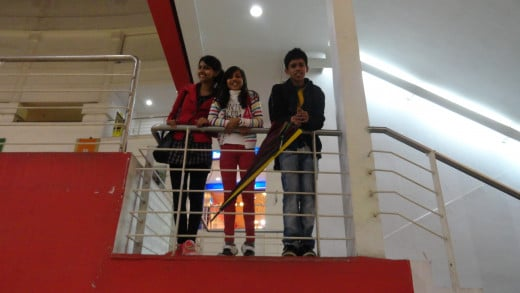 Mumpi, Naina and Reet in Relience Trend mall