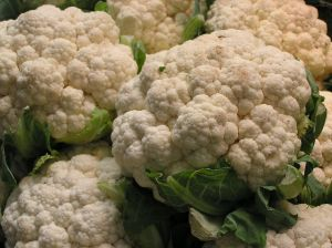 Cauliflower - be careful of eating much fiber, though.