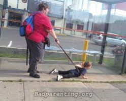 Do you think it is appropriate to have children on leashes?