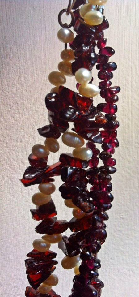Garnets and pearls