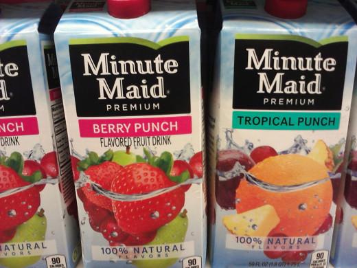 Fruit juices (Vitamin C, sugars, water)