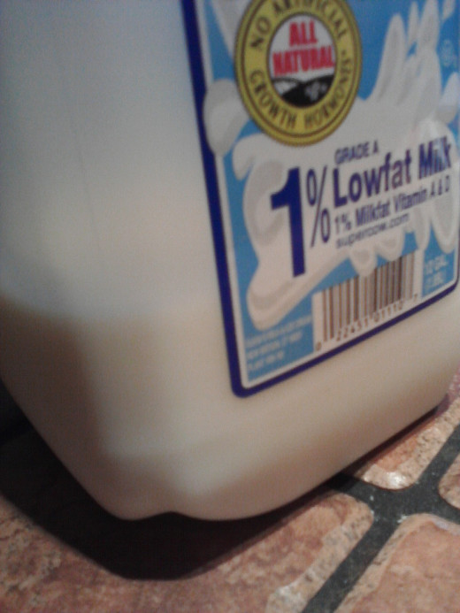 Whole milk (lactose sugar)
