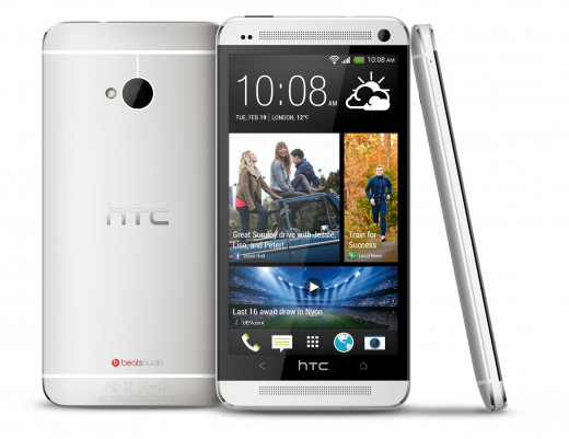 HTC One (silver)