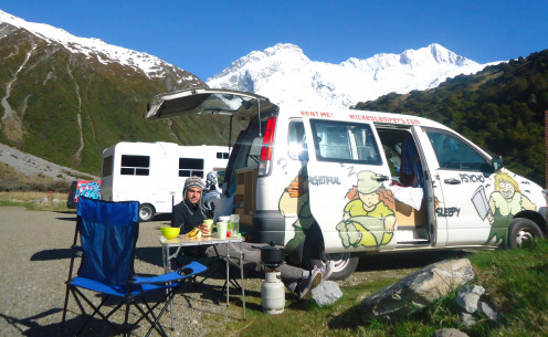 Thebest thing about cooking in a campervan is that you can do it anywhere!