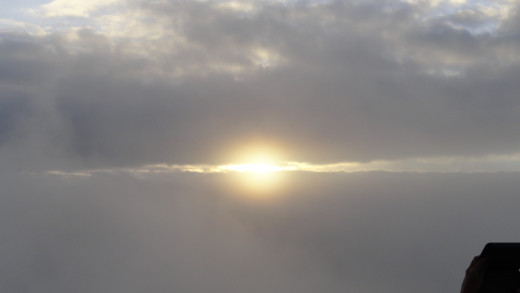Sun peeping through the sky of Darjeeling