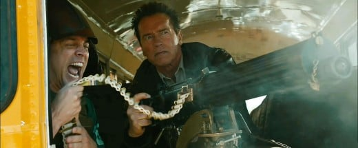 Lewis Dinkum (Johnny Knoxville) and Sheriff Ray Owens (Arnold Schwarzenegger) © Lionsgate