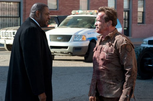 Agent John Bannister (Forest Whitaker) and Sheriff Ray Owens (Arnold Schwarzenegger) © Lionsgate