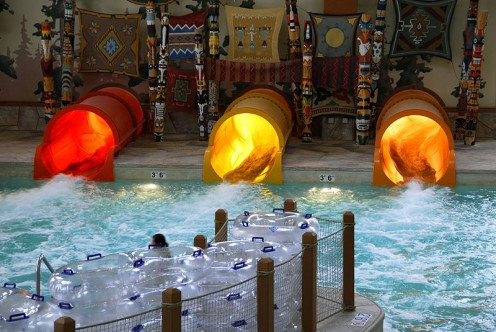A hotel with an indoor water park! Amazing.