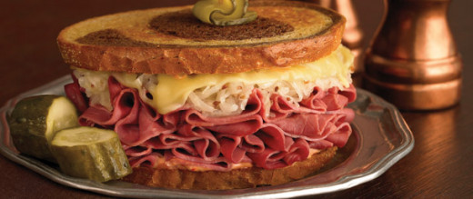 There is nothing better than a classic Reuben sandwich the corn beef, the Swiss cheese and the sauerkraut with that 1000 island dressing just makes you want to come back for more.