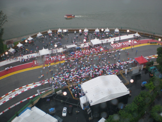 A view at Marina Bay Street Circuit.