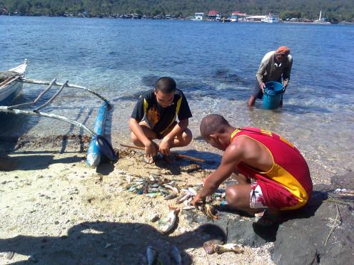 Befriending the village fisherfolks....