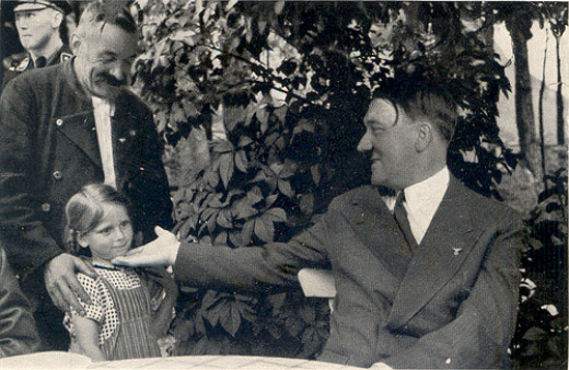 Adolph Hitler with a grandchild from photolibrarian  flickr.com