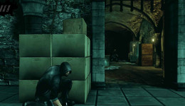 In Dark, Eric should stay behind cover and assess each scenario to get to Blooming in the catacombs.