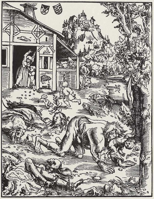 Werewolf, Lucas Cranach the Elder (c. 1512)