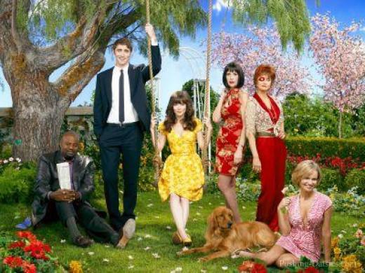 From Left: Chi McBride, Lee Pace, Anna Friel, Ellen Greene, Swoozie Kurtz, Kristen Chenoweth
