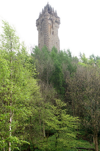 Wallace Monument From the visitor centre below Abbey Craig.
