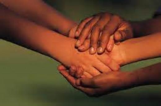 Intercessors pray together