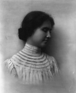 Helen Keller learned sign language by having the letters signed in her palm so she could feel them.