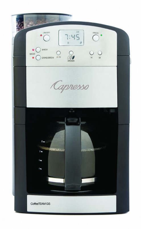 Capresso 464.05 CoffeeTeam GS 10-Cup Digital Coffeemaker with Conical Burr Grinder