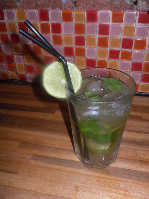 The finished classic mojito