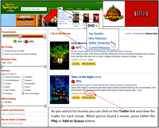 Edited screen capture of RottenTomatoes