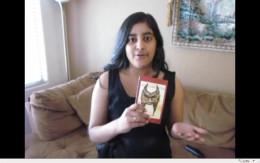 Anivarya Kumar with her book.