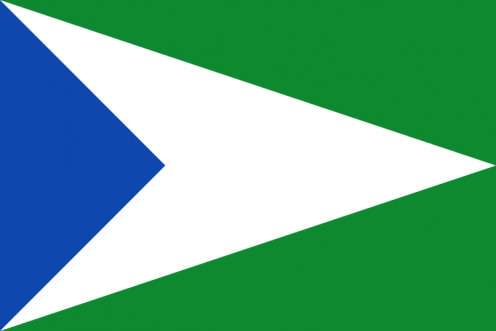 Flag of Oxapampa. Source: AgainErick WMC.