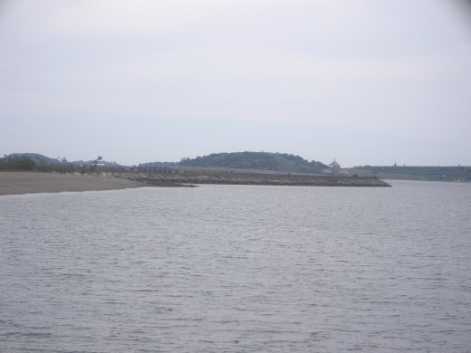 A better view of the Head Island Causeway in the distance