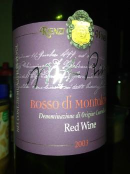 Rienzi Rosso di Montalcino 2003
