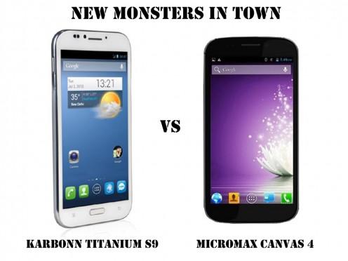 Karbonn Titanium S9 vs Micromax Canvas 4