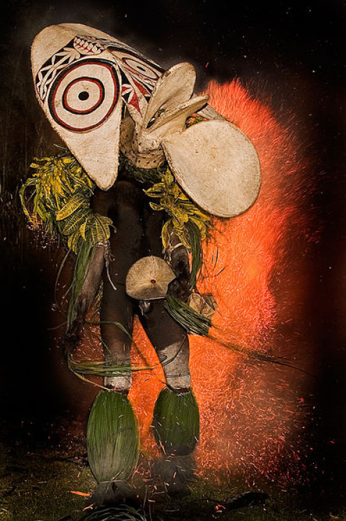 The very impressive ceremonial dance garb of the Baining tribe, from Papua New Guinea.