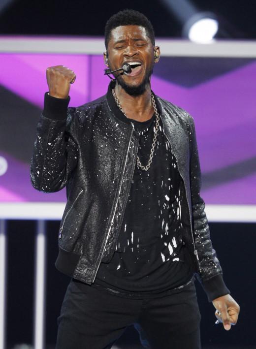 Usher Raymond the fourth;  worldwide superstar singer.