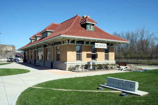 The Wysor Street Depot in Muncie contains the offices for the Cardinal Greenway
