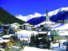 Graubunden Village in Switzerland