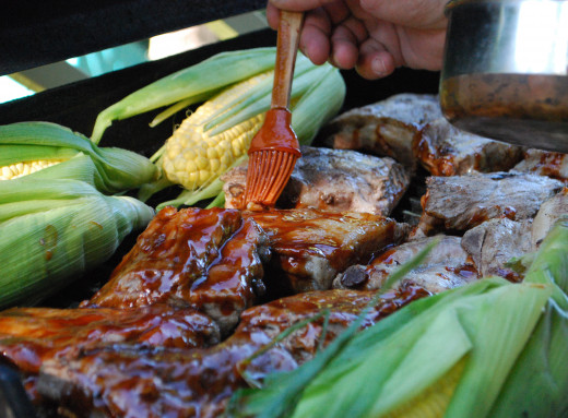 The grill isn't just for meat. Toss your whole corn husks over the open fire for great results, or even get creative with some tin foil and stir-fry some veggies.