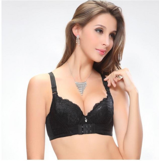 front closure push up bra