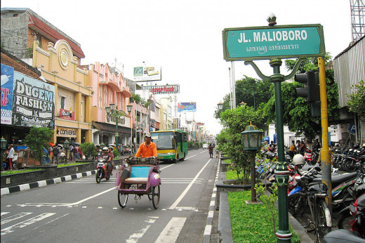 Malioboro Street is a busy street a any shopaholic will love.  3