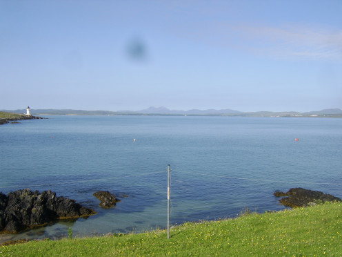 Loch Indaal and the distant Paps of Jura from Port Charlotte
