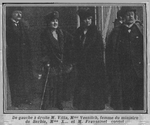 Charles de Freycinet (seen at extreme right) and other dignitaries, 1916