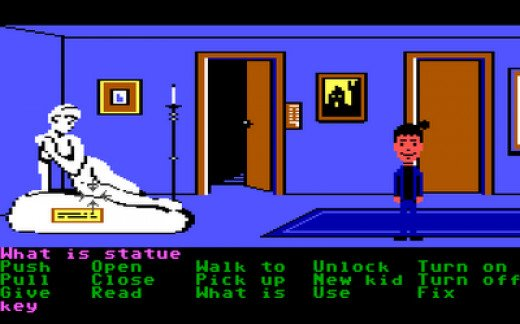Maniac Mansion screenshot ( original PC version) with the stache in question.