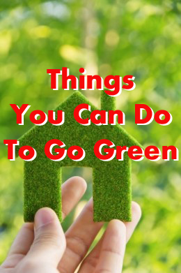 Going green helps the environment
