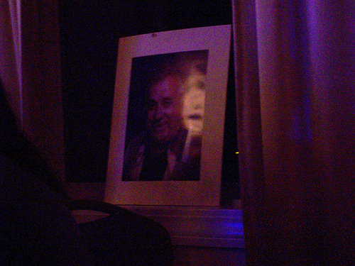 Ghost image appears at the dinner