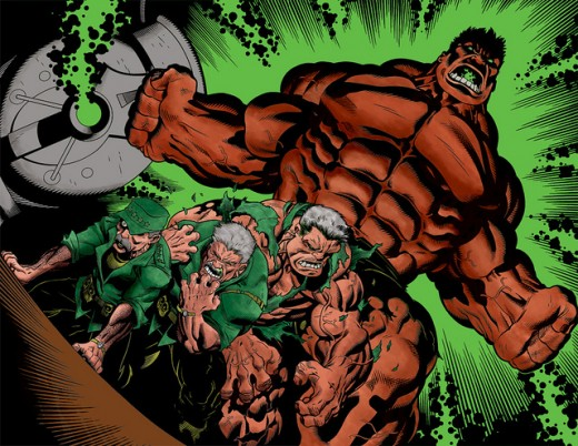 Red Hulk is getting angry