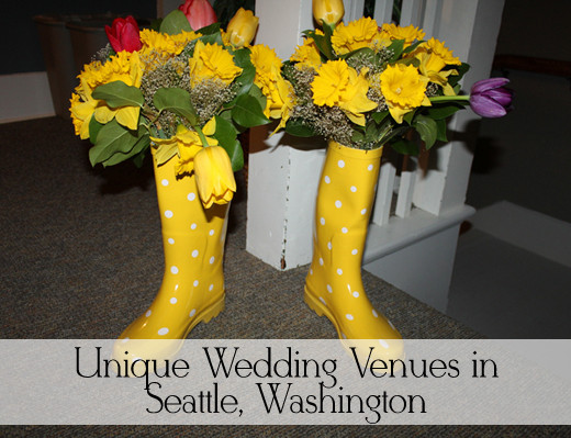 You may need some rain boots for your Seattle wedding. Image edited by the author.