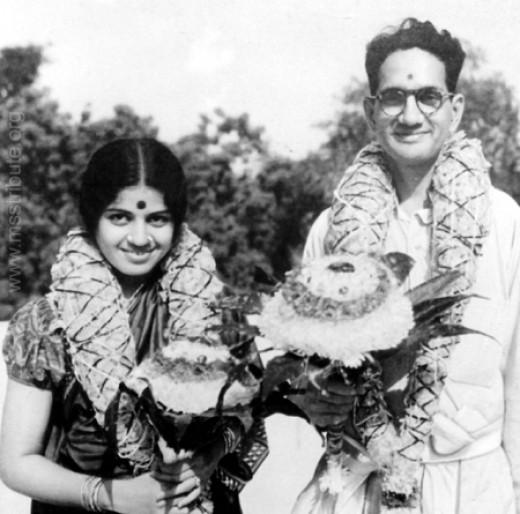 Marriage photo of M. S. Subbulakshmi